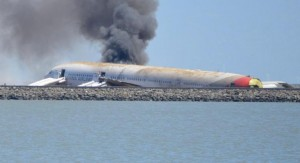 Minutes after OZ214 crashed  in SFO